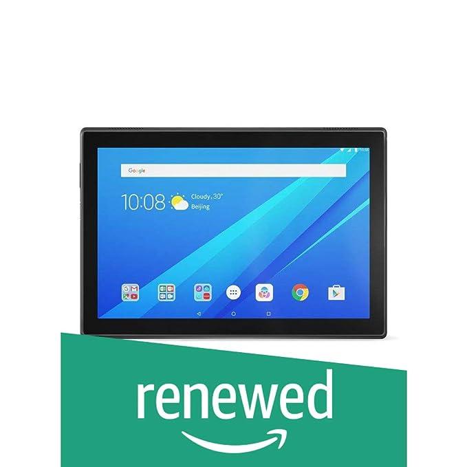 Renewed  Lenovo Tab4 10 Tablet  10.1 inch,16 GB,Wi Fi + 4G LTE  Slate Black Tablets