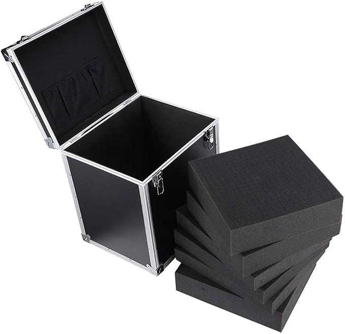 Creative Light Global - Caja De Herramientas De Aleación De Aluminio Estuche Universal para Dispositivos De Medición, con Una Funda De Vuelo De Espuma Llena 38 × 32 × 42cm: Amazon.es: Hogar