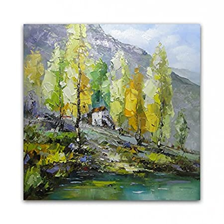 Tianzhensuiyue@ OILPAINTING Hand Painted Oil Painting High Quality Household Adornment Art Pictures,80x80cm