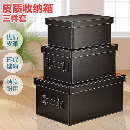 皮革衣物收纳箱 宜家有盖衣服整理箱 大号杂物盒储物箱家用创意