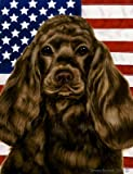 Best of Breed Cocker Spaniel Chocolate Patriotic II Large Flags For Sale