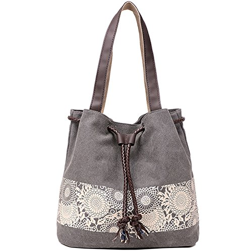 Retro Printing Casual Canvas Tote Bag Handbag Shoulder Bag For Women Girls Ladies Beach School Travel Bag Roomy Purse