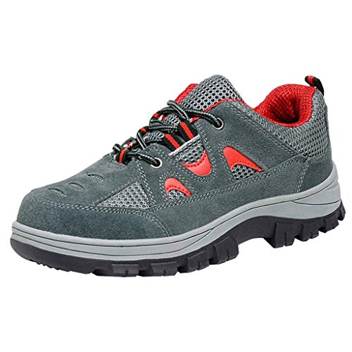 Gray Shoes Safety Shoes Toe Red Optimal Shoes Steel Comp Men's Work 674wqO4