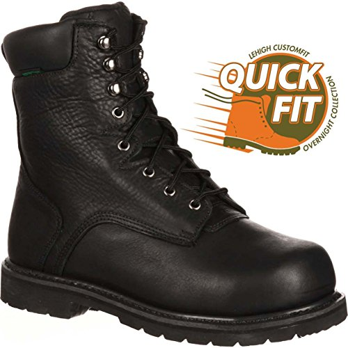 Lehigh QUICKFIT Collection Safety Shoes Unisex Steel Toe Internal Met Guard Waterproof Work Boot from Lehigh
