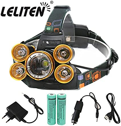 Retractable Zoom LED Torch Headlight Flashlight Rechargeable Camping Headlamp