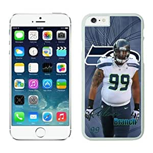 Seattle Seahawks Alan Branch Case Cover For SamSung Galaxy S4 Mini NFL Cases White NIC13774