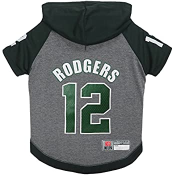 NFLPA Aaron Rodgers Hoodie for Dogs   Cats. NFL Green Bay Packers Dog T- Shirt 0f015b10b