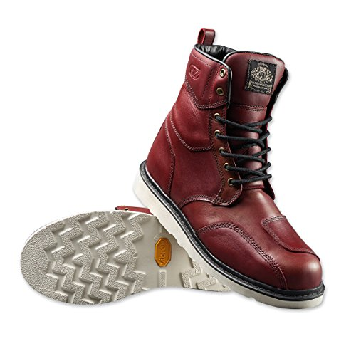 Roland Sands Design Men's Mojave Oxblood Leather Boots, (Sand Leather Boots)