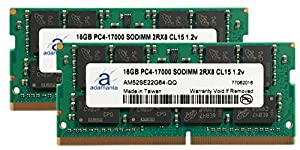 Adamanta 32GB (2x16GB) Laptop Memory Upgrade for Dell Alienware 17 R3 Gaming Laptop DDR4 2133Mhz PC4-17000 SODIMM 2Rx8 CL15 1.2v Notebook DRAM