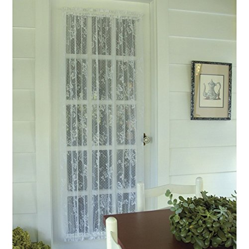 (Heritage Lace English Ivy 48W x 36L in. Door Curtain Panel - White)