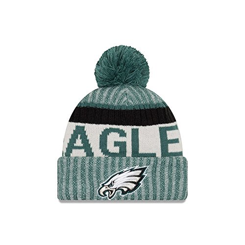 New Era Cap Embroidered Hat (Philadelphia Eagles New Era 2017 On-Field Sport Knit Beanie Hat / Cap)