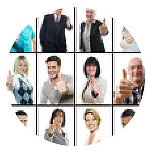 alfombrilla de ratón Collage personas felices y exitosas - ronda - 20cm