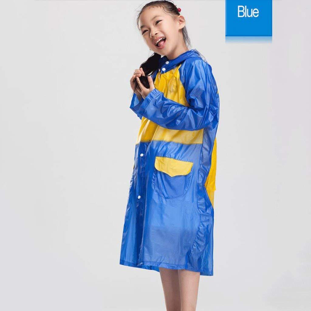 petit bleu BAIF Les Enfants Portent des imperméables pour garçons et Filles avec des Sacs d'école Ponchobleu, vert, violetS, Rouge, Rose Faible (Couleur  Vert, Taille  XL)