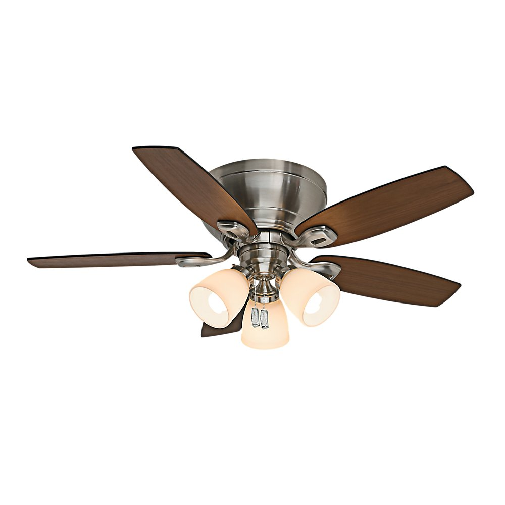 Casablanca Indoor Low Profile Ceiling Fan, with pull chain control - Durant  44 inch, Brushed Nickel, 53187