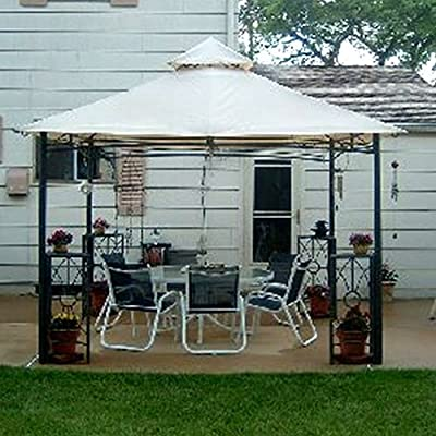 Garden Winds GT Arch Gazebo Replacement Canopy Top Cover - RipLock 350 : Garden & Outdoor