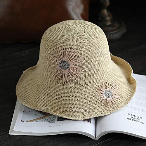 Verano De Mujer Gorra Protector Sombrero Libre Aire Beige Slh Plegable Al Sol Pescador Solar 5tRqHC