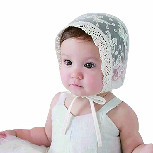 Amazon.com  PanDaDa Toddler Baby Girls Stretchy Lace Flower Sun Hat ... a8d017c0ac6