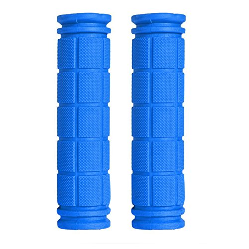 (UJuly 1 Pair Bike Handlebar Durable Rubber Soft End Grip for BMX MTB Cycling Mountain Bicycle Scooter with Anti Bacteria and Strong Wearability (Deep Blue) )