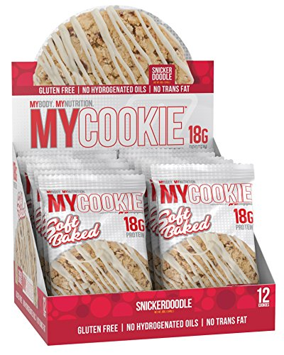 Pro Supps MYCOOKIE Delicious Soft Baked Protein Cookie, Snickerdoodle, 18g Protein, 7g Sugar, Gluten-Free, No Trans Fat, Healthy On-The-Go Snack, 12 ct, Net Wt 1.94 oz.