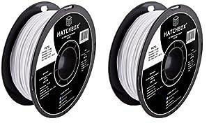 HATCHBOX PETG 3D Printer Filament, Dimensional Accuracy +/- 0.03 mm, 1 kg Spool, 1.75 mm, White from HATCHBOX