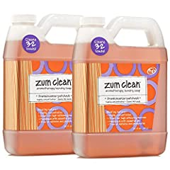 """ZUM CLEAN LAUNDRY SOAP FRANKINCENSE - PATCHOULI 32 FL. OZ.: Clean up your laundry's grime scene with this spot-stain-stink cleaner. Zum Clean Laundry Soap isn't the """"D"""" word (detergent) or all the nasty chemicals that go with it. And just bec..."""