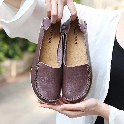 Scarpe Comode Per Le Donne Scarpe Da Donna Mocassini Mocassini Slip-on Flat Walking Brown