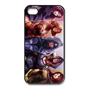 iphone4 4s Black phone case All Heroes Dota 2 DOT8695503