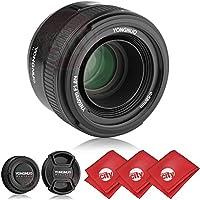 Yongnuo YN 50mm F/1.8 AF Standard Prime Lens w/ Microfibers for Nikon DSLR Cameras