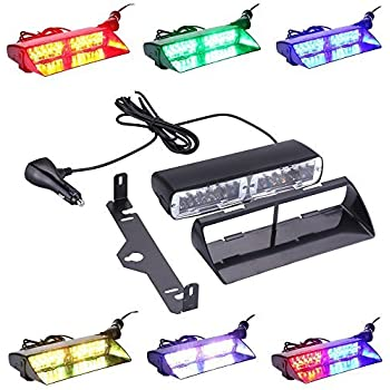 6 Colors 48 Flashing Mode Free switching!Emergency Vehicle Dash Warning Strobe LED Flash Light Safety