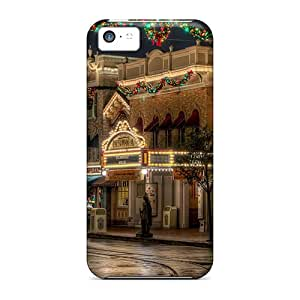 YSU949rmdI DAMillers Lovely Christmas Street Decoration Durable Iphone 5c Tpu Flexible Soft Case