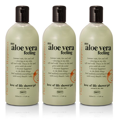 BRUBAKER 3-Pack Happiness 'My Aloe Vera Feeling' Shower Gel,