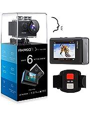 AKASO Caméra Sport 4K WiFi 20MP Télécommande Commande Vocale Ecran LCD Stabilisateur Caméra Sportive Etanche sous Marine Angle Réglable Zoom 6 Fois 2 Batteries 1050mAh Kit d'Accessoires - Brave 6