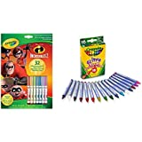 Crayola Coloring & Activity Pad with Markers, Incredibles 2 16ct Multi-Colored Glitter Crayons