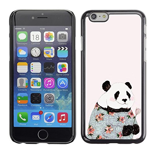 Soft Silicone Rubber Case Hard Cover Protective Accessory Compatible with Apple iPhone? 6 (4.7 Inch) - absurd pink fashion flowers happy