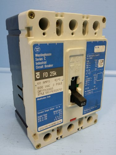Cutler Hammer Fd - Westinghouse FD3060 60 Amp Breaker Matte 600V FD 25k FD3060L 60A Cutler-Hammer