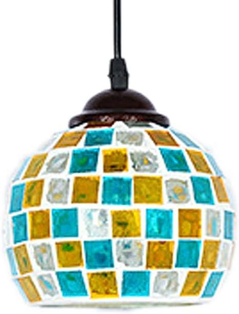 Fabakira Lampadari Stile Mosaici Antico Pastorale Di Invertito Soffitto Lampadario A Sospensione Per Soggiorno Pranzo Camera Da Letto Amazon It Illuminazione