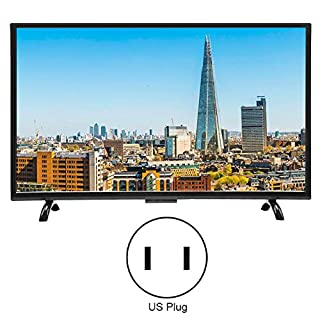 43-Inch 4K HDR LCD Curved Screen Smart TV, 1920x1200 Resolution 3000R Curvature Digital Television, Voice Searching Function, Fast Respond(Black)