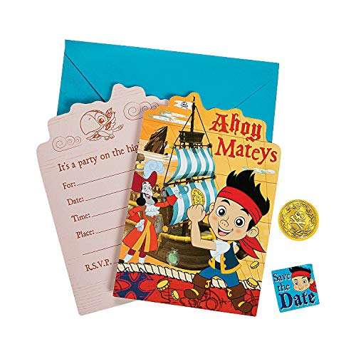 Disney Jr. Jake and the Neverland Pirates Birthday Party Invitation 16 Count Save The Date -