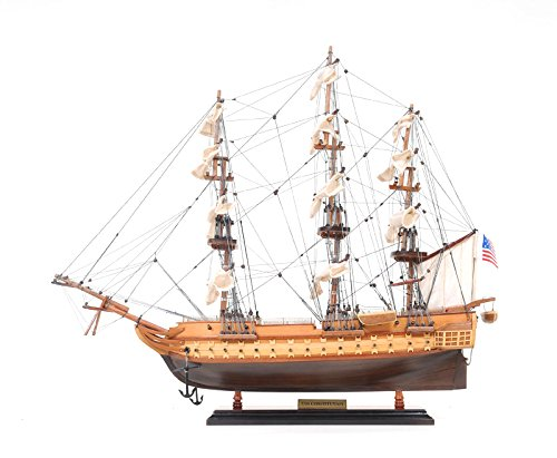 Old Modern Handicrafts USS Constitution Collectible, Small (Submarine Mahogany Wood Model)