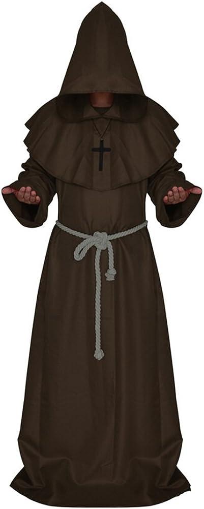 Medieval Monk Robe Priest Robe Halloween Cosplay Costume Cloak