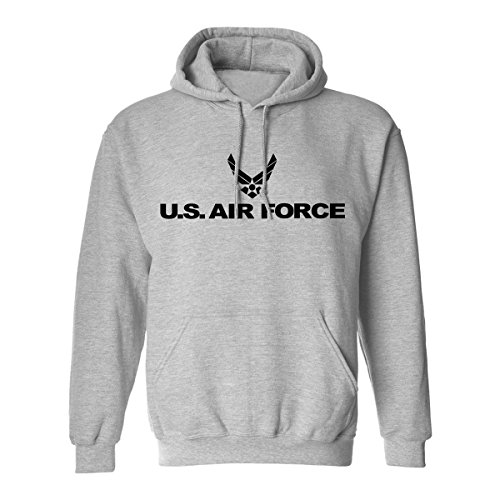 Air Force Hoodie Sweatshirt (Air Force Hooded Sweatshirt in Gray - Large)