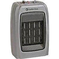 Comfort Zone Ceramic Heater - Silver