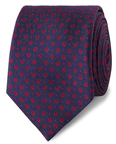T Slim and Tie Men's Silk Mini M Red Navy Lewin Flower Spot rqxrw4