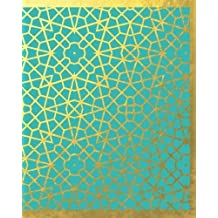 Arabic Inspired Gold and Turquoise Notebook/Journal