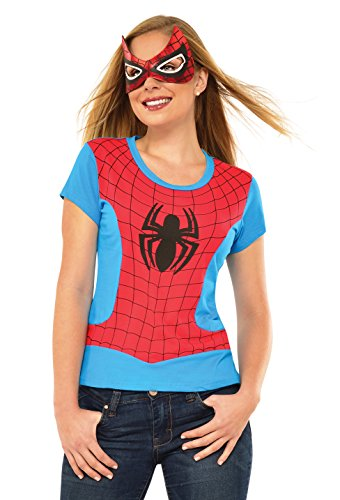 Rubie's Costume Co Women's Marvel Universe Spider-Girl Classic T Shirt, Multi, Large (Lady Costume Mask)