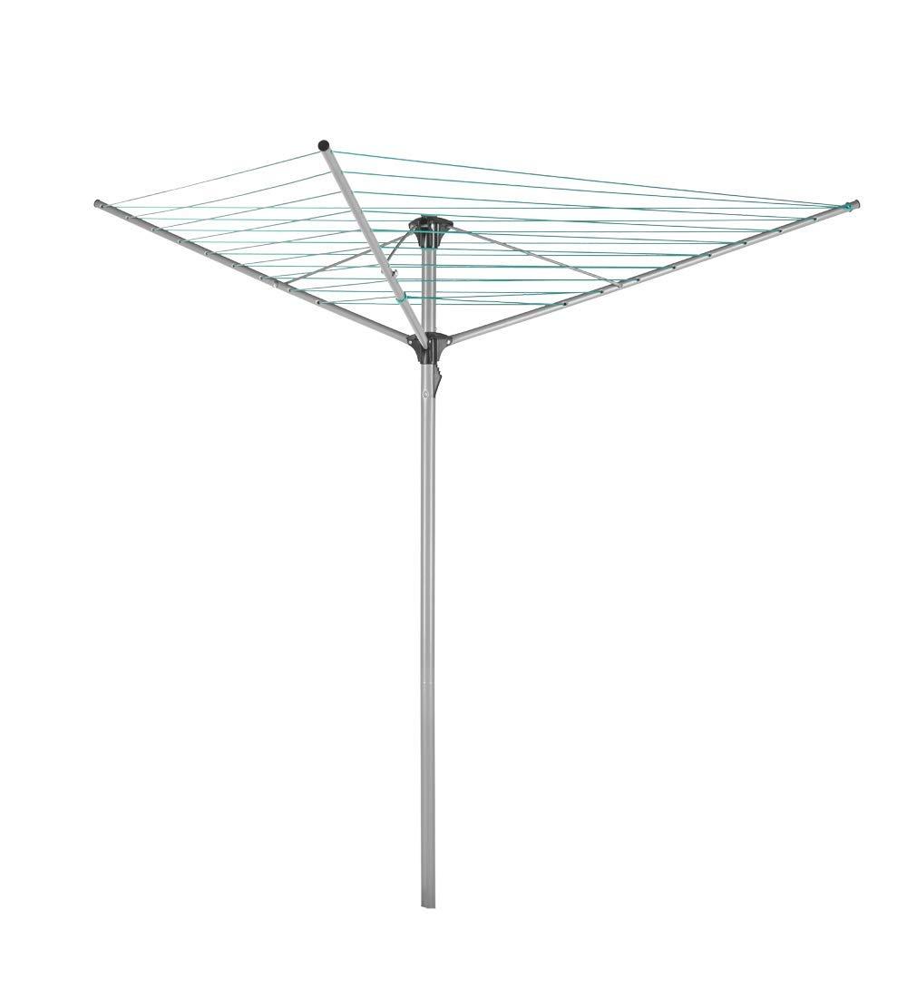 3-armig Metaltex W/äschest/änder 30/m Lange W/äscheleine Stahl Silber