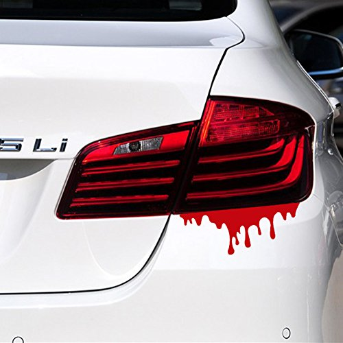 Headlamp Auto Car - 3D Auto Car Sticker, Adv-one Blood Bleeding Decal Reflective Sticker for Car Headlamp Taillight