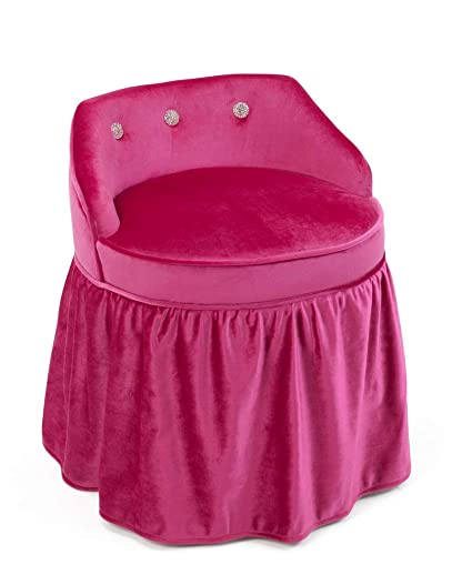 Amazon Com 4d Concepts Girls Vanity Chair In Pink Kitchen Dining