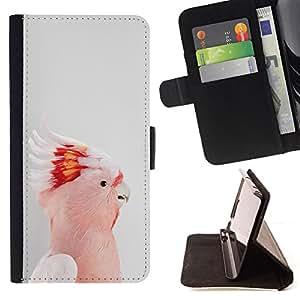 Ihec-Tech / Negro Flip PU Cuero Cover Case para Sony Xperia Z1 Compact D5503 - Rose minimaliste Gris mignon
