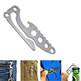 Meanhoo Pocket Multi-Function Stainless Steel Tool Keychain Bottle Opener Keychain Hook EDC Camping Survival Tools For Sale
